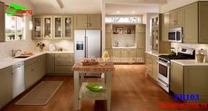 Tủ bếp gỗ công nghiệp TB013