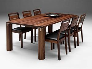 bàn ghế ăn gỗ óc chó 602