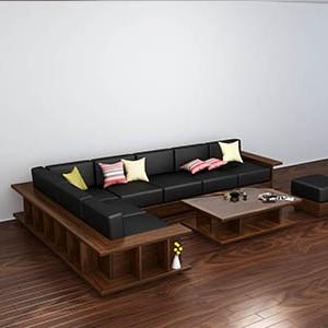 Sofa gỗ óc chó N157