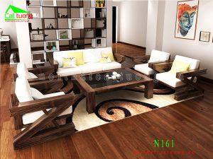 Sofa gỗ óc chó N161