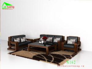 Bàn ghế gỗ óc chó N162