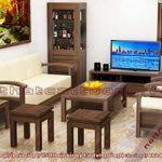 Mẫu bàn ghế gỗ phòng khách CT102 hiện đại