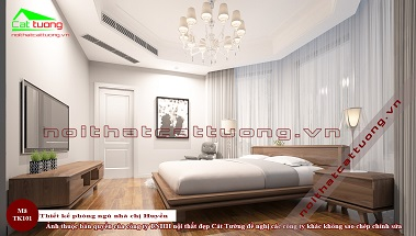 Thiết kế phòng ngủ gỗ óc chó tk101a