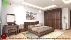 Thiết kế tủ quần áo gỗ óc chó CT524 đẳng cấp