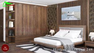 Tủ quần áo gỗ óc chó CT538 đẹp hiện đại
