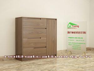 Tủ giầy gỗ óc chó CT407 kiểu dáng hiện đại