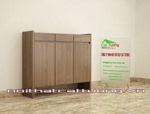 Tủ giầy gỗ óc chó CT411 chất lượng