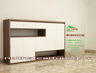 Tủ giầy gỗ óc chó CT412 chất lượng