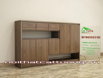 Tủ giầy gỗ óc chó CT413 hiện đại