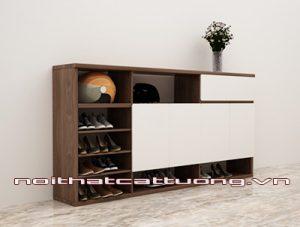 Tủ giầy gỗ óc chó CT415 chất lượng
