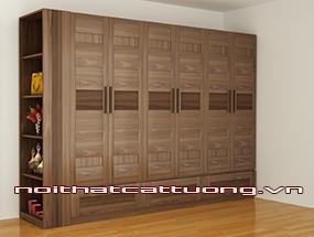 Tủ quần áo gỗ óc chó CT508