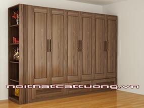 Tủ quần áo gỗ óc chó CT509
