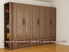 Tủ quần áo gỗ óc chó CT510