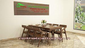 Bàn ghế ăn gỗ óc chó CT714