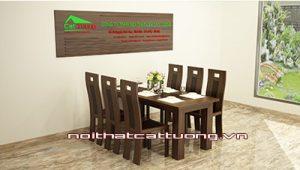 Bàn ghế gỗ ăn óc chó CT717