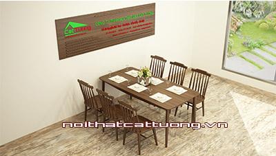 Bàn ghế ăn gỗ óc chó CT715