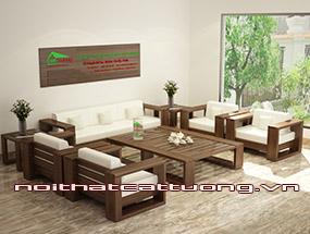 Bàn ghế gỗ sofa cho không gian sang trọng