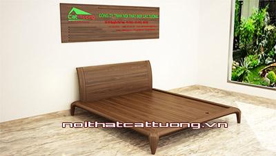 Giường ngủ gỗ óc chó CT612