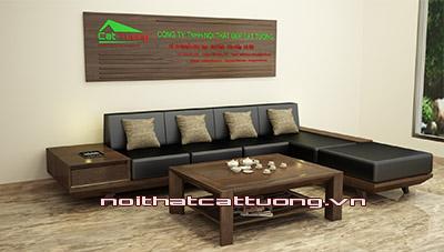 Sofa gỗ óc chó  CT153