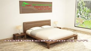giường ngủ gỗ óc chó CT608