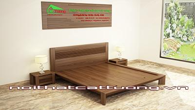 giường ngủ gỗ óc chó CT609