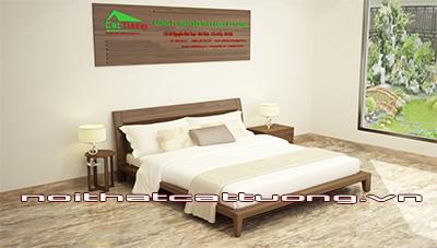 giường ngủ gỗ óc chó CT610