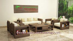 Mẫu bàn ghế sofa gỗ