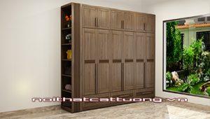 Tủ quần áo gỗ óc chó CT516