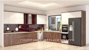 Tủ bếp gỗ óc chó CT806