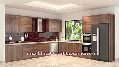 Tủ bếp gỗ óc chó CT809