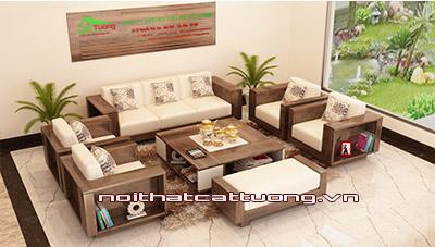 Bàn ghế gỗ óc chó CT123