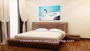 Giường ngủ gỗ óc chó CT616