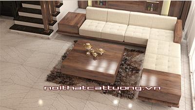 Sofa gỗ óc chó CT154