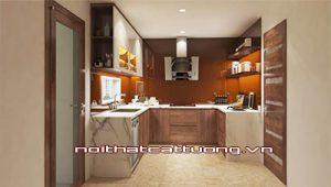 Tủ bếp gỗ óc chó CT813