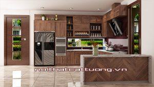 Tủ bếp gỗ óc chó CT815