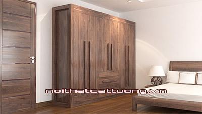 Tủ quần áo gỗ óc chó CT518