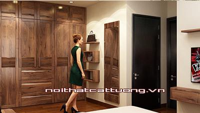 Tủ quần áo gỗ óc chó CT520