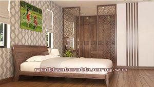 Giường ngủ gỗ óc chó ct617b