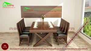 Bàn ghế ăn chất gỗ cao cấp n5