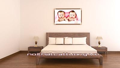 Giường ngủ gỗ óc chó ct619b