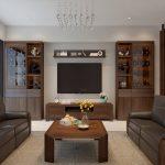 Nội thất gỗ walnut TK117 cho phòng khách sang trọng