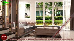 Sofa gỗ óc chó CT155