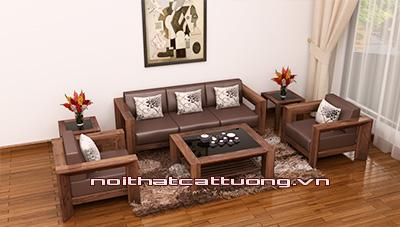 Bàn ghế gỗ óc chó CT128 B