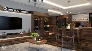 thiết kế trang trí phòng khách 1