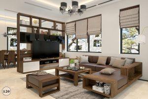 Sofa gỗ óc chó 17