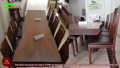 Bàn ghế ăn gỗ óc chó CT724 n2