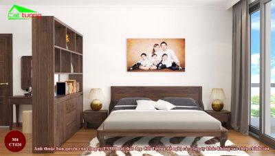 Giường ngủ gỗ óc chó CT626