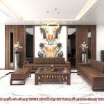 Sofa gỗ óc chó CT137