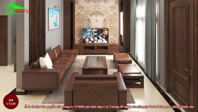 Sofa gỗ óc chó CT139