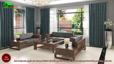 Sofa gỗ óc chó CT140